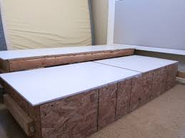 do it yourself divas diy king size bed frame part 4 headboard and finished