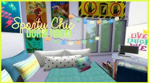 Sims 3 Bedroom Decor The Sims 4 Lets Build A University Dorm Part 7 Sporty Chic