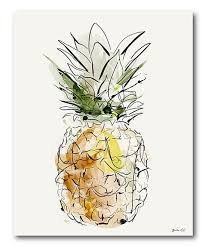 pineapple drawing. pineapple drawing wrapped canvas