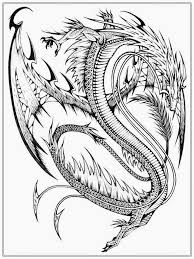 Realistic Dragon Coloring Pages For Adults Color Bros