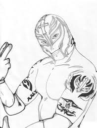 Coloring Pages Wwe Printableg Pages Of Wrestlers Free For Kidswwe