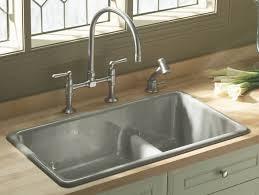 kohler stainless steel kitchen sink grates with low divider