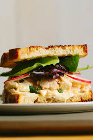 Tuna Sandwich With Pickled Radish Fennel White Bean Spread A