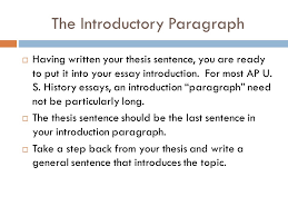 writing the ap essay understanding the prompt  the first thing  9 the introductory