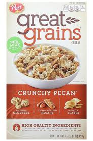 healthy cereal. Perfect Healthy Post Great Grains Crunchy Pecan Cereal With Healthy Cereal E