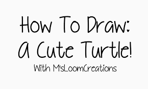 Small Picture How To Draw A Cute Little Turtle YouTube