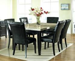 black 7 piece dining set elegance eating room decoration with monarch 7 piece black dinette table