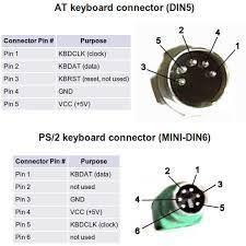 diy old keyboard 5 pin din to ps2 converter 5 steps keyboard ps2 pinout jpg