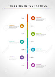 Timeline Infographic And Icons Vector Design Template For Web