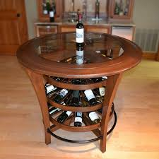 wine barrel wine rack furniture. Unique Round Wine Rack Bar Table With Glass Countertops For Living Room Furniture Of Wooden Design IKEA Bars And Racks Barrel