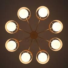 modern black 8 light semi flush ceiling light fixture