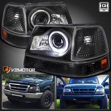 halo ring angel eye headlights proper installation 98 00 ranger black halo projector headlights corner park signal lights