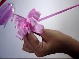 Paper Ribbon Flower Pull Flower Ribbons Youtube