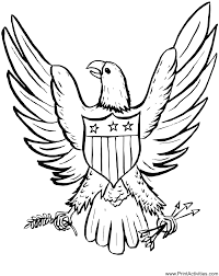 Small Picture Eagle Coloring Page An Eagle With An American Shield