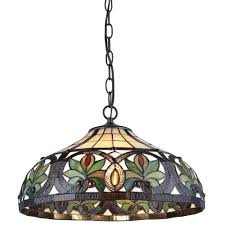 tiffany 2 light sunrise bronze pendant hanging lamp