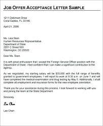 Offer Letter Acceptance Mail Format Job Acceptance Letter Template Jimbutt Info
