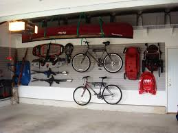 garage storage systems for neat and tidy garage mountain bicycle white wall red cano cement