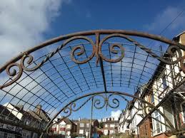 garden arch hand made wrought iron vintage