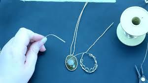 wire wrapped cabochon pendant beginner intermediate level part 1 wirework jewelry tutorials