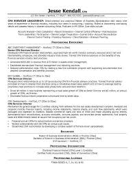 Cpa Resume Templates Resume Sample