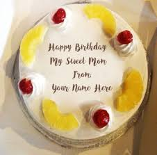 Write Name On Birthday Cakes For Mother