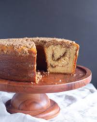 Add egg, sour cream and vanilla and mix. Treats Sour Cream Coffee Cake With Brown Sugar Pecan Streusel