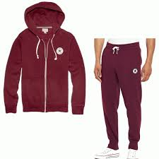 converse tracksuit. converse new logo burgundy red zip-up hoody full tracksuit e