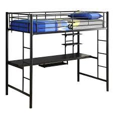 metal twin workstation desk loft bunk