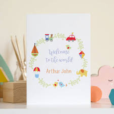 Baby Congratulations Card Personalised New Baby Congratulations Card