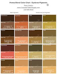Eyebrow Color Chart Perma Blend In 2019 How To Color