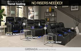 Living Room Theaters Gorgeous Seatcraft Tiered Home Theater Seating Without Risers 48seating