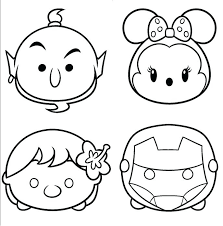Disney Tsum Tsum Coloring Pages Coloring Book Kids N Fun Coloring