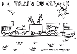 Photo Train Du Cirque Dessin Colorier