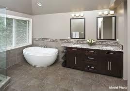 Best Bath Decor bathroom granite tiles : Contemporary Master Bathroom with frameless showerdoor by 3 Day ...