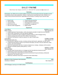 11 Loan Officer Resume Informal Letters