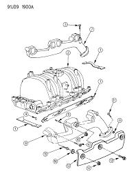 1993 jeep grand wagoneer manifold intake exhaust diagram 00000938