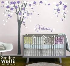 white tree wall decal for nursery with cherry blossom baby nursery wall decals tree purple white  on tree wall art for baby nursery with white tree wall stickers nursery zebragarden me