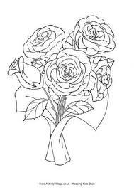 Roosjes Kleurplaat Bunch Of Roses Colouring Page Pre K Flowers