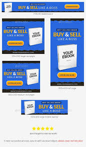 Ebook Banner Ad Photoshop Template Banners Ads Web