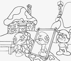 tiny sweet blue smurfs coloring books for agers drawing vanity smurf cute free pictures to color