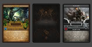 Trading Card Design Entry 18 By Jorzsitse For Trading Card Game Template Design With