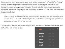 Online Automatic Synonym Generator Tool