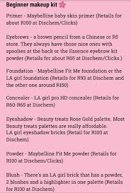slay oclock with aya on twitter some las requested that i make a list of some beginner makeup items for a kit rt for a beginner on your tl