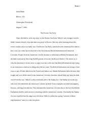 boston tea party blake anna blake history christopher  boston tea party blake 1 anna blake history 156 christopher pieczynski 7 2016 the boston tea party i have decided to write my essay on the