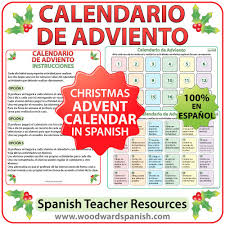 Calendario De Abviento Calendario De Adviento Spanish Advent Calendar Woodward Spanish