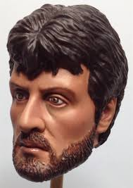 MARTIN HILLIER DIGITAL SCULPTURE AND ART - 1/6 SCALE ACTION FIGURE  SCULPTURE AND PAINTING: 1/6 SYLVESTER STALLONE as ROCKY BALBOA from ROCKY 4  training montage head paint (PRICE - £50/$75)