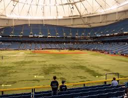 Seating Chart For Tropicana Field St Petersburg Tropicana Field Section 145 Seat Views Seatgeek
