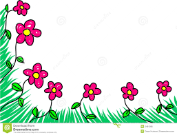 Flower Edge Design Floral Edge Stock Vector Illustration Of Blooms Ornament