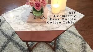 diy marble coffee table beautiful geometric faux marble coffee table tile diy marble slab coffee table
