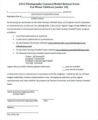 Media Consent Form Template Awesome Sample Print Release Example ...